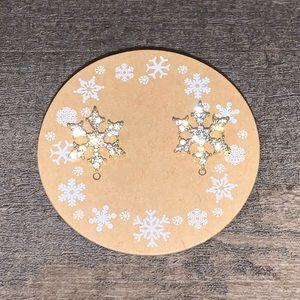Francesca's Snowflake Diamond Gold Earrings